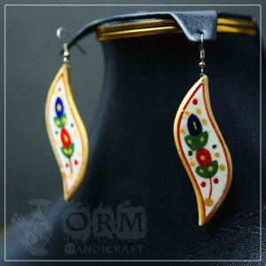 Bazm Camel Bone-VII Earrings
