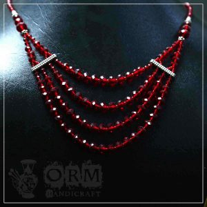 Crystal Red Stone Four Layers Necklace