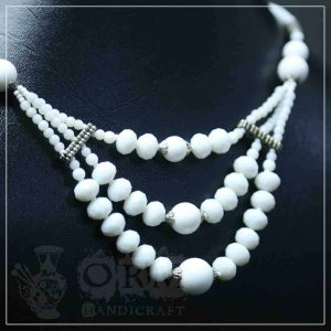 Crystal White Three Layer Necklace