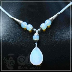 Dur e Najaf Stone Water Drop Style Necklace