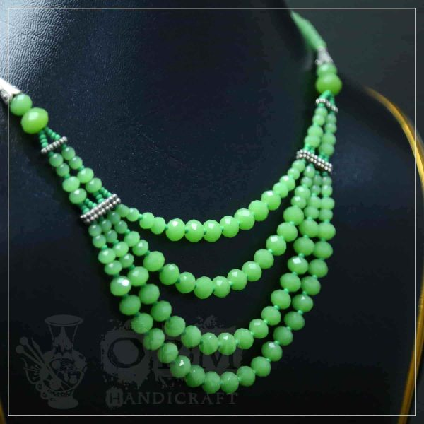 Green Crystal Four Layers Necklace