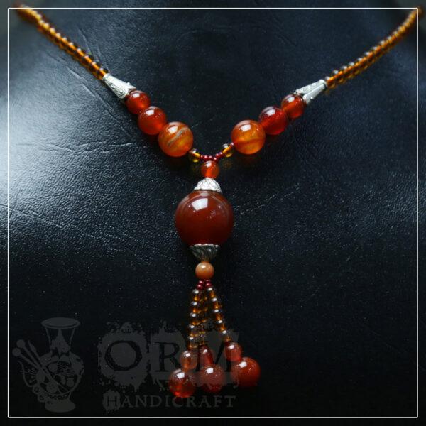 Aqeeq Stone Necklace