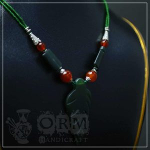 Malachite Leaf Style Stone Locket