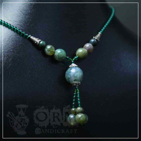 Malachite Stone Ball Style Necklace
