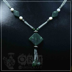 Malachite Stone Diamond Style Locket