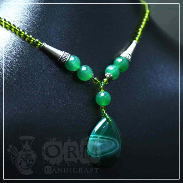 Malachite Stone Water Drop Style Necklace