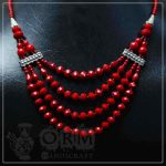 Ruby Stone Four Layer Necklace