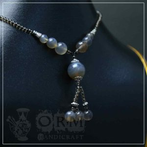 Sadaf Gray Stone Ball Style Locket
