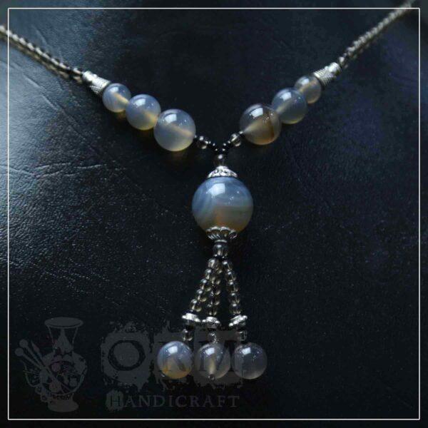 Sadaf Gray Stone Ball Style Locket