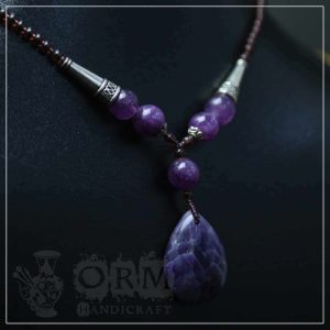Sadaf Purple Stone Locket