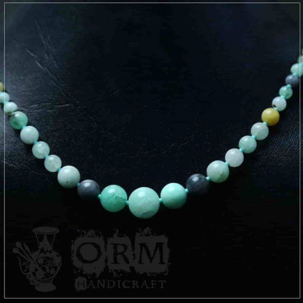 Sadaf Sea-Green Stone Round Necklace (I)