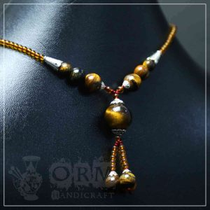 Tiger Stone Ball Style Necklace