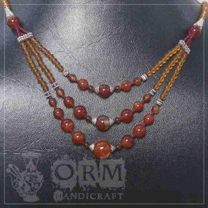 Anarri Stone Round Shape 3 Layers Necklace
