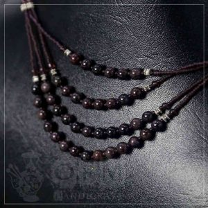 Aqeeq Black 4 Layers Necklace