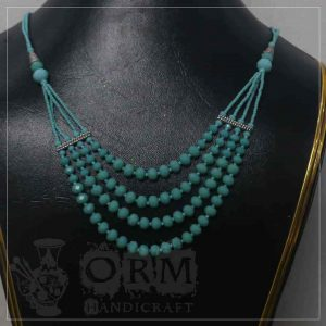 Blue Crystal 4 Layers Necklace