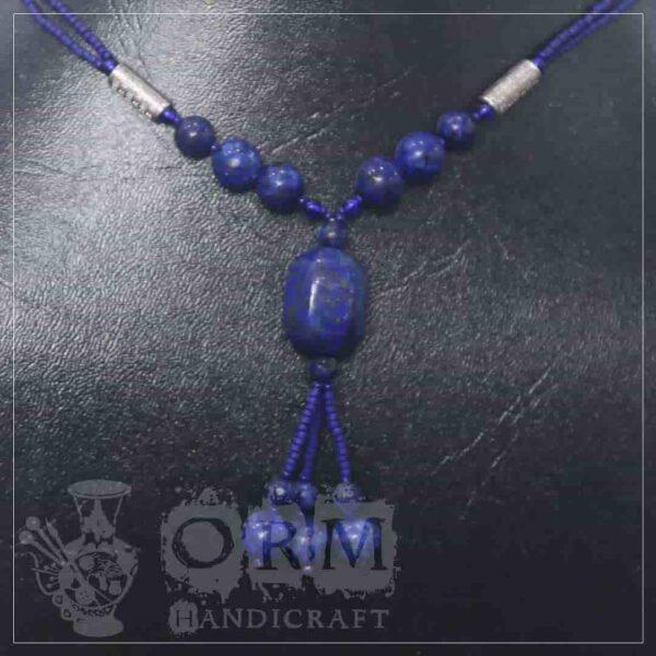 Dark Blue Stone Blocks Style Locket