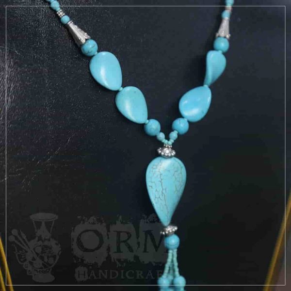 Feroza Stone Flat Style Necklace
