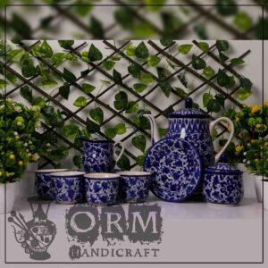 Flower Design Tea Set