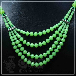 Green Crystal 4 Layer Necklace