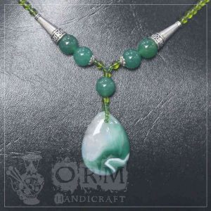 Nur e Najaf Green Stone Drop Style Locket