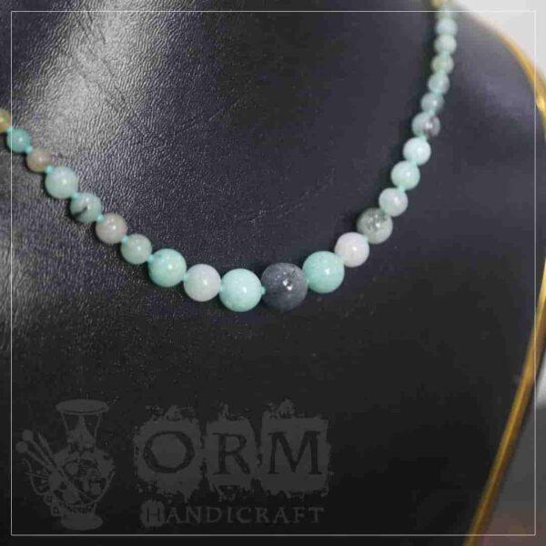 Sadaf Sea-Green Stone Round Necklace (Round)