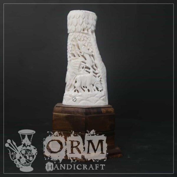 Small Camel Bone Lamp (Corve + Animals Design)
