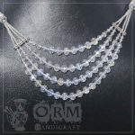 White Crystal 4 Layers Necklace