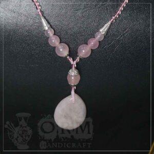 Half Pink Stone Locket