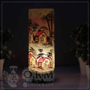 Medium Camel Skin Lamp Glass (Darvesh Design )