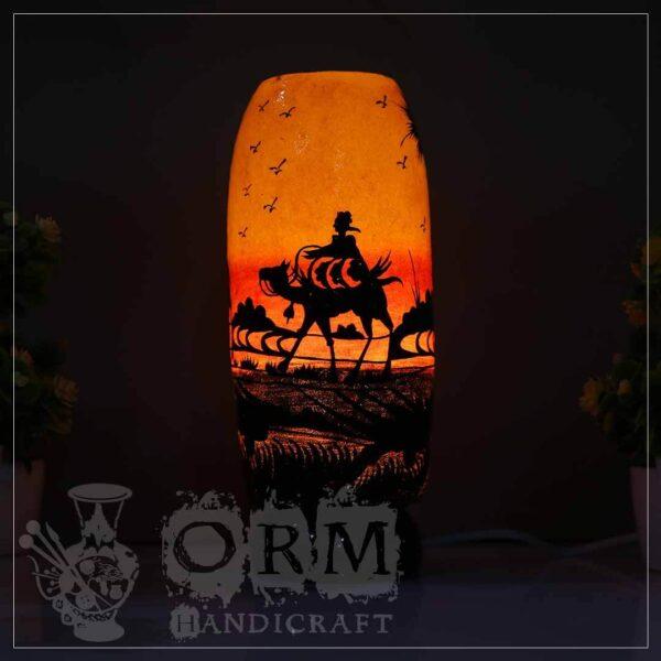 Camel Skin Lamp Bottle Glass (Carvan Design)