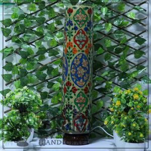 Large Camel Skin Glass (Flower Design)