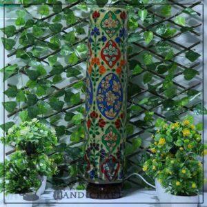 Large Camel Skin Glass (Flower Design)