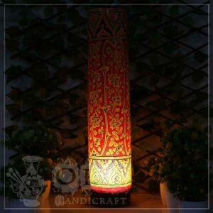 Large Camel Skin Lamp Glass (Jungle Design)