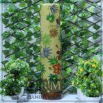Large Camel Skin Lamp Glass (Leaf Design) 1
