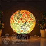 Large Camel Skin Lamp Globe (Leaf Design)