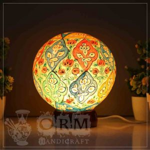 Large Camel Skin Lamp Globe (Leaf Design)