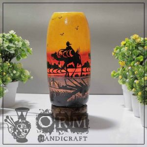 Medium Camel Skin Lamp Bottle Glass (Carvan Design ) 1