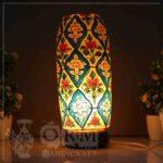 Medium Camel Skin Lamp Bottle Glass (Flower Design) 1