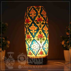 Medium Camel Skin Lamp Bottle Glass (Flower Design)