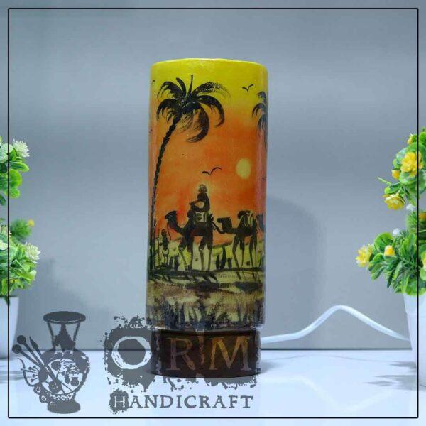 Medium Camel Skin Lamp Glass (Carvan Design)