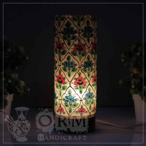 Medium Camel Skin Lamp Glass (Flower Design)