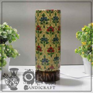 Medium Camel Skin Lamp Glass (Flower Design)