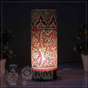 Medium Camel Skin Lamp Glass (Jungle Design)