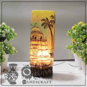 Medium Camel Skin Lamp Glass (Multani Design)