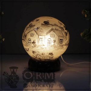 Medium Camel Skin Lamp Globe (Darvesh Design)