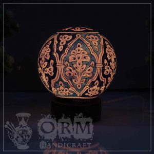 Small Camel Skin Lamp Globe (Blue Tag Design)