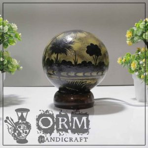 Small Camel Skin Lamp Globe (Tree Design)